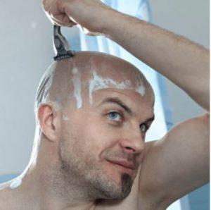 como afeitarse la cabeza
